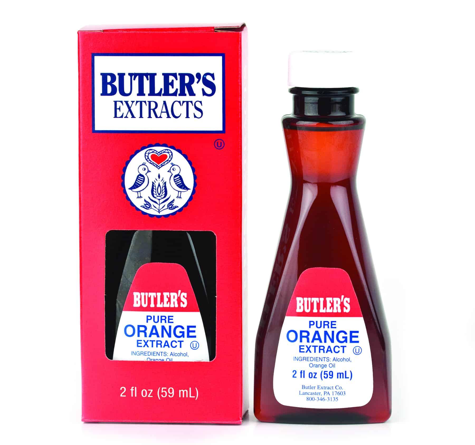 Butler Pure Orange Extract 2 oz