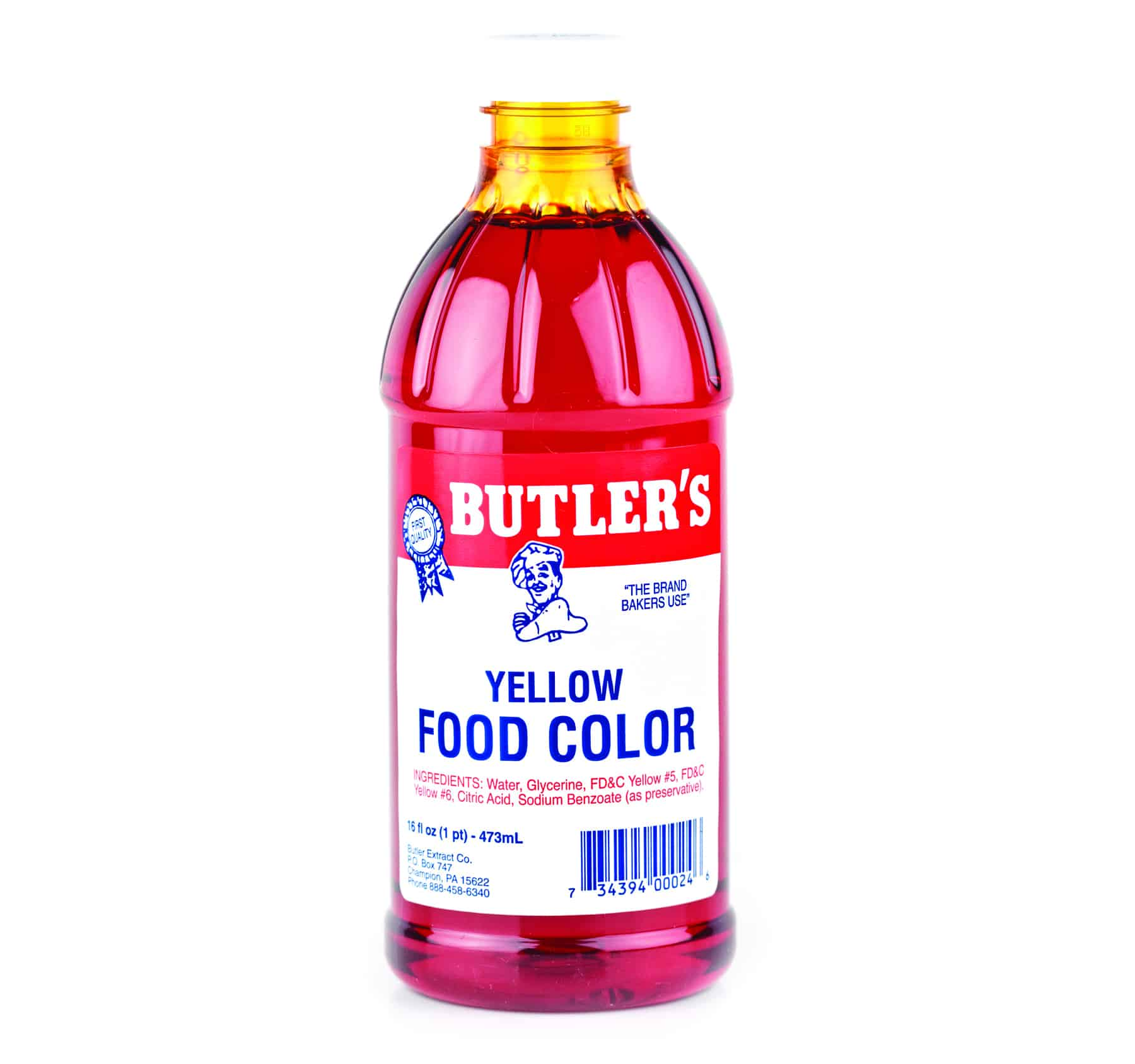 Yellow Food Coloring - 16 oz. - Bulk Priced Food Shoppe