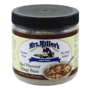 Mrs. Miller's Beef Soup Base - 12 oz. -0