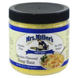 Mrs. Miller's Chicken Soup Base - 12 oz. -0