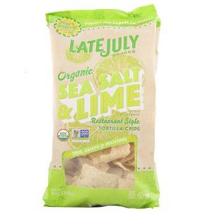 Organic Sea Salt & Lime Tortilla Chips- Late July 11 oz.-0