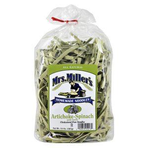 Mrs. Miller's Old Fashioned Noodles- Artichoke Spinach 14 oz. -0