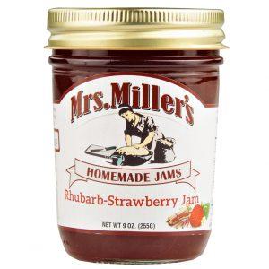 Mrs. Miller's Rhubarb Strawberry Jam - 8 oz. -0