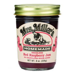 Mrs. Miller's Sugar Free Seedless Red Raspberry Jam - 8 oz. -0